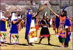 Inti Raymi is the Inca Festival of the Sun, celebrated each year in Cusco during the Winter solstice