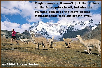 Magic moments: It wasn't just the altitude on the Ausangate circuit, but also the stunning beauty of the snow-capped mountains, that took our breath away.