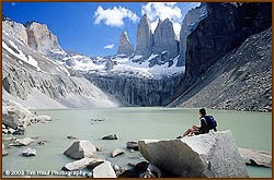 Glacial lake at Torres del Paine